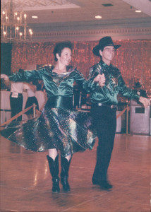 Just for fun- a picture of Arlyn dancing with her non-equine partner :)